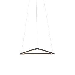 "Z-Bar Pendant 16"", Triangle, Matte Black, Canopy | Suspensions | Koncept"