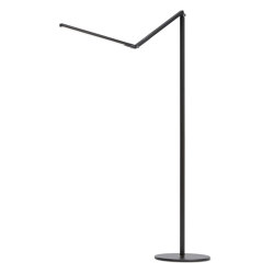 Z-Bar LED Floor Lamp - Metallic Black | Luminaires sur pied | Koncept
