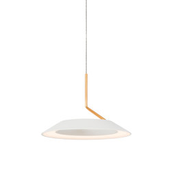 Royyo Pendant (single), Matte White with Gold accent | Pendelleuchten | Koncept