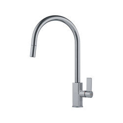 Maris Tap Pull Down J Version Nickel Optics | Kitchen taps | Franke Home Solutions