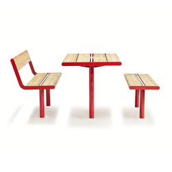 April bench & table | Tables and benches | Vestre