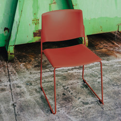 Ema sledge chair with open backrest | Chairs | ENEA