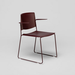 Ema sledge chair with open backrest and arms | Chairs | ENEA