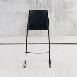 Ema stool with close backrest | Bar stools | ENEA