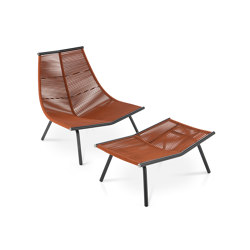 LAZE 002 | 004 High Backrest Lounge Chair & Stool | Sessel | Roda