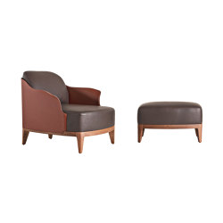 Cocoon | Armchair with Pouf | Armchairs | Frag