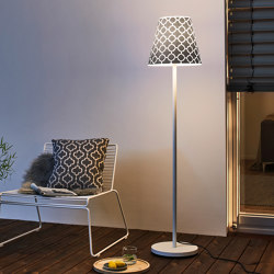 Swap | with grey quatrefoil shade | Outdoor free-standing lights | Moree