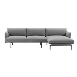 Outline Sofa | Chaise Longue - Right | Canapés | Muuto