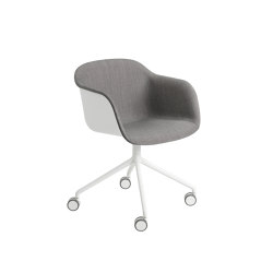 Fiber Armchair | Swivel Base With Castors | Sillas | Muuto