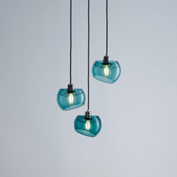 Glass Moons 3 | Suspended lights | Licht im Raum