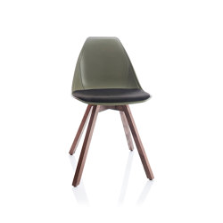 X Wood Soft Chair | Sillas | ALMA Design