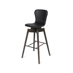 Shell Bar Stool - Ultra Black - Sirka Grey Oak | Chairs | Mater