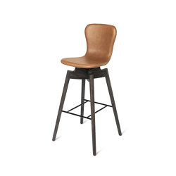 Shell Bar Stool - Ultra Brandy - Sirka Grey Oak | Stühle | Mater