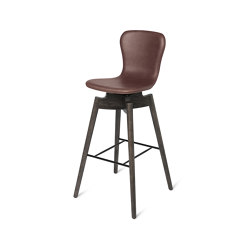 Shell Bar Stool - Ultra Cognac - Sirka Grey Oak | Stühle | Mater