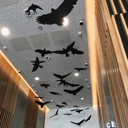 Freestyle - Suspended Bespoke Freestyle Ceiling Rafts | Suspensions acoustiques | Soundtect