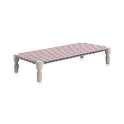 Garden Layers Single Indian bed Tartan blue | Tagesliegen / Lounger | GAN