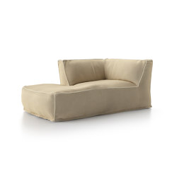 Soft Modular Sofa Dormeuse Right Version | Sun loungers | Atmosphera