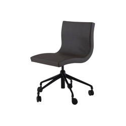 Sala | Desk Chair Black Base On Castors | Chairs | Ligne Roset
