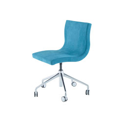 Sala | Desk Chair Aluminium Base On Castors | Chairs | Ligne Roset