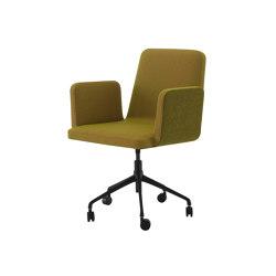 Vik 2 | Carver Chair - Without Handle Black Base On Castors | Chairs | Ligne Roset