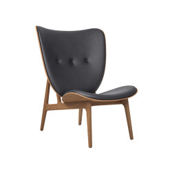 Elephant Chair, Smoked Oak / Vintage Leather Antrachite | Fauteuils | NORR11
