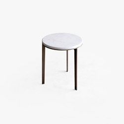 Side Table Round With Marble Top | Side tables | Bensen