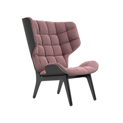 Mammoth Chair, Black / Velvet: Rosewood 1672 | Armchairs | NORR11