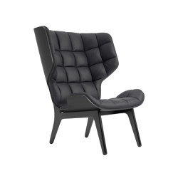 Mammoth Chair, Black / Vintage Leather Anthracite 21003 | Armchairs | NORR11