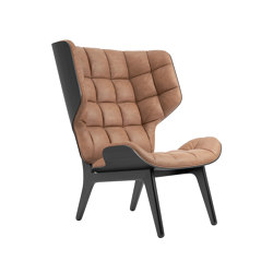 Mammoth Chair, Black / Vintage Leather Camel 21004 | Sillones | NORR11