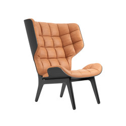 Mammoth Chair, Black / Vintage Leather Cognac 21000 | Sillones | NORR11