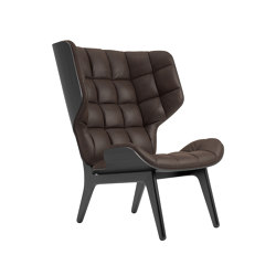 Mammoth Chair, Black / Vintage Leather Dark Brown 21001 | Sillones | NORR11