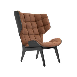 Mammoth Chair, Black / Vintage Leather Rust 21002 | Sillones | NORR11