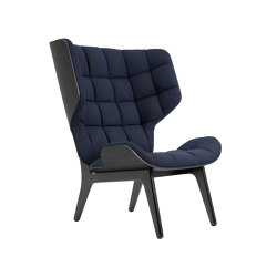 Mammoth Chair, Black / Wool: Navy Blue 1007   Poltrone   NORR11