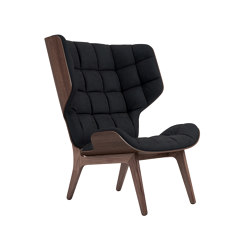 Mammoth Chair, Dark Stained / Velvet: Midnight Blue 1679 | Sillones | NORR11