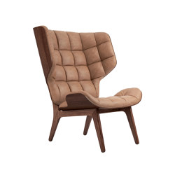 Mammoth Chair, Dark Stained / Vintage Leather Camel 21004 | Armchairs | NORR11