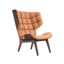Mammoth Chair, Dark Stained / Vintage Leather Cognac 21000 | Armchairs | NORR11