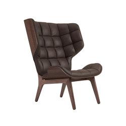 Mammoth Chair, Dark Stained / Vintage Leather Dark Brown 21001 | Armchairs | NORR11