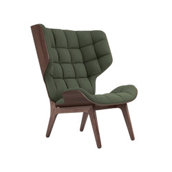 Mammoth Chair, Dark Stained / Wool: Forrest Green 053 | Armchairs | NORR11