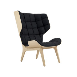 Mammoth Chair, Natural / Velvet: Midnight Blue 1678 | Sessel | NORR11