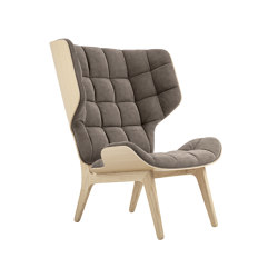 Mammoth Chair, Natural / Velvet: Taupe 710 | Fauteuils | NORR11