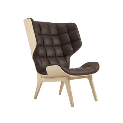 Mammoth Chair, Natural / Vintage Leather Dark Brown 21001 | Armchairs | NORR11
