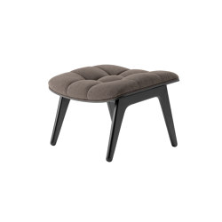 Mammoth Ottoman, Black / Wool: Fawn 124 | Pouf | NORR11