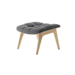 Mammoth Ottoman, Natural / Canvas: Washed Black 068 | Poufs | NORR11