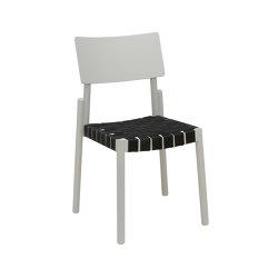 Flex chair light grey, black webbing seat   Sillas   Hans K