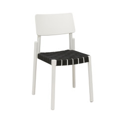 Flex chair white, black webbing seat   Sillas   Hans K