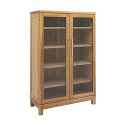 Inzel bookcabinet 2-door oak oiled | Vitrinas | Hans K