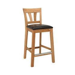 Inzel barchair 63cm oak oiled, assembled | Bar stools | Hans K
