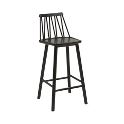 ZigZag barchair 63cm ash black | Tabourets de bar | Hans K