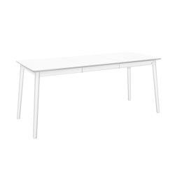 ZigZag table rect bf 127(53)x75cm white | Mesas comedor | Hans K