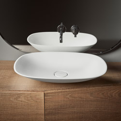 Forma Topsolid Top mounted washbasin L60 | Wash basins | Inbani